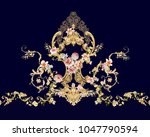 Stock photo  the deformation of flowers the leaves and flowers art design 1047790594