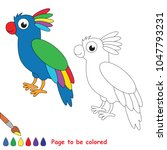 colorful parrot animal to be... | Shutterstock .eps vector #1047793231