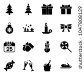 solid vector icon set  ... | Shutterstock .eps vector #1047808129
