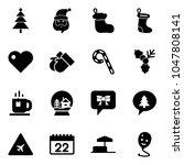 solid vector icon set  ... | Shutterstock .eps vector #1047808141