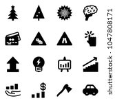 solid vector icon set  ... | Shutterstock .eps vector #1047808171