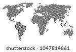 geographic map composition done ... | Shutterstock .eps vector #1047814861