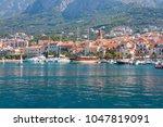 adriatic sea shore with small... | Shutterstock . vector #1047819091