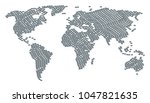 world map pattern created of... | Shutterstock .eps vector #1047821635