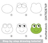 kid game to develop drawing... | Shutterstock .eps vector #1047828769