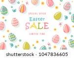 easter sale special offer... | Shutterstock .eps vector #1047836605