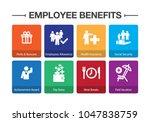 employee benefits infographic... | Shutterstock .eps vector #1047838759