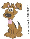 happy dog sitting cartoon | Shutterstock . vector #10478413