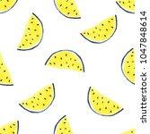 seamless tropical pattern of... | Shutterstock . vector #1047848614