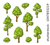 collection of different trees... | Shutterstock .eps vector #1047853219