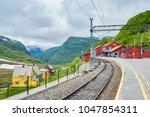 myrdal station  norwegian flam ... | Shutterstock . vector #1047854311