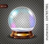 3d classic snow globe vector... | Shutterstock .eps vector #1047857881