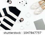 casual style woman clothes and... | Shutterstock . vector #1047867757