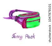 fanny  belt  pack type of bag... | Shutterstock . vector #1047878101