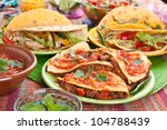 colorful traditional mexican... | Shutterstock . vector #104788439