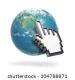 hand computer cursor pointing... | Shutterstock . vector #104788871