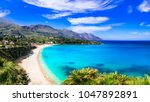 italian holidays .best beaches... | Shutterstock . vector #1047892891