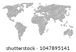 global atlas collage made of... | Shutterstock .eps vector #1047895141