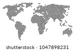world atlas concept made of... | Shutterstock .eps vector #1047898231