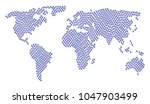 world map mosaic made of grapes ... | Shutterstock .eps vector #1047903499