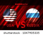 usa vs russia conflict. round... | Shutterstock .eps vector #1047905335