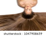 beautiful girl with long hair | Shutterstock . vector #1047908659