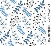 seamless floral pattern. vector ... | Shutterstock .eps vector #1047913405