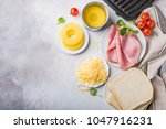 ingredients for making grilled... | Shutterstock . vector #1047916231