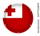 round metallic flag of tonga... | Shutterstock .eps vector #1047916849