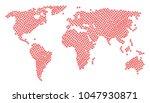 worldwide atlas mosaic...   Shutterstock .eps vector #1047930871