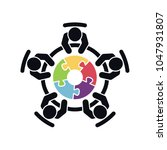 meeting vector icon. group of... | Shutterstock .eps vector #1047931807