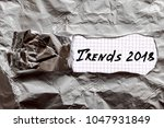 concept  trends of 2018. a... | Shutterstock . vector #1047931849