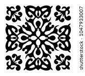 vector ornament with caucasian... | Shutterstock .eps vector #1047933007