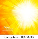bright orange background with...