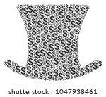 gentleman hat collage of... | Shutterstock .eps vector #1047938461