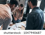 smart business team. group of... | Shutterstock . vector #1047940687