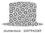 gentleman hat collage of... | Shutterstock .eps vector #1047942289