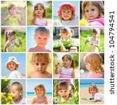 children and summer collage | Shutterstock . vector #104794541