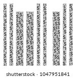 barcode mosaic of dollars.... | Shutterstock . vector #1047951841