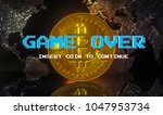 cryptocurrency   bitcoin btc ... | Shutterstock . vector #1047953734
