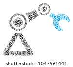 robotics manipulator collage of ... | Shutterstock .eps vector #1047961441