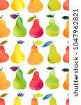 seamless pattern with fruits... | Shutterstock . vector #1047962821