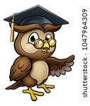 a wise owl cartoon character... | Shutterstock .eps vector #1047964309