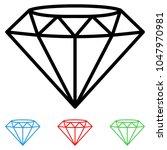 diamond icons set   Shutterstock .eps vector #1047970981
