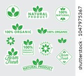 label of organic product | Shutterstock .eps vector #1047975367