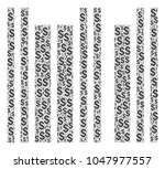 barcode collage of dollar... | Shutterstock .eps vector #1047977557