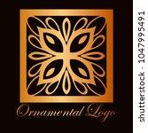 vintage ornamental logo... | Shutterstock .eps vector #1047995491
