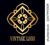 vintage ornamental logo... | Shutterstock .eps vector #1047995509