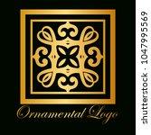 vintage ornamental logo... | Shutterstock .eps vector #1047995569