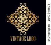 vintage ornamental logo... | Shutterstock .eps vector #1047995575